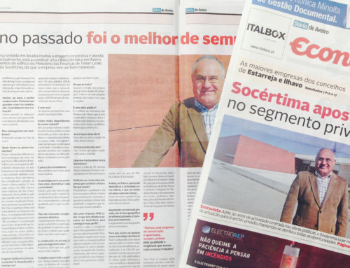 Interview with Elídio Alferes in Diário de Aveiro Economics Supplement