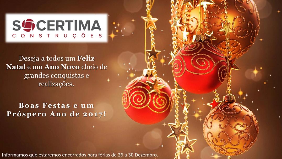 A Socértima Deseja a Todos Boas Festas!